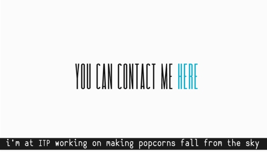 conntact card popcorns 4 f work