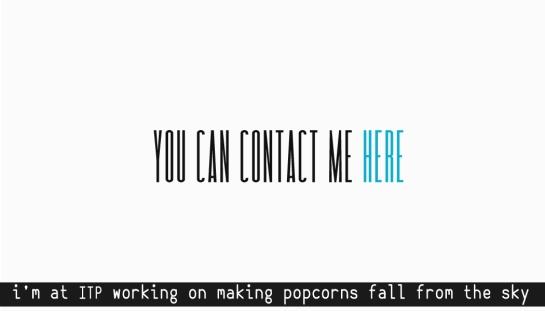 conntact card popcorns 4 f work