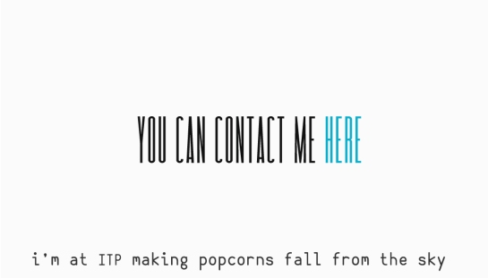 conntact card popcorns 4 f