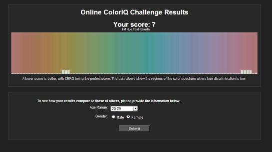 color test copy